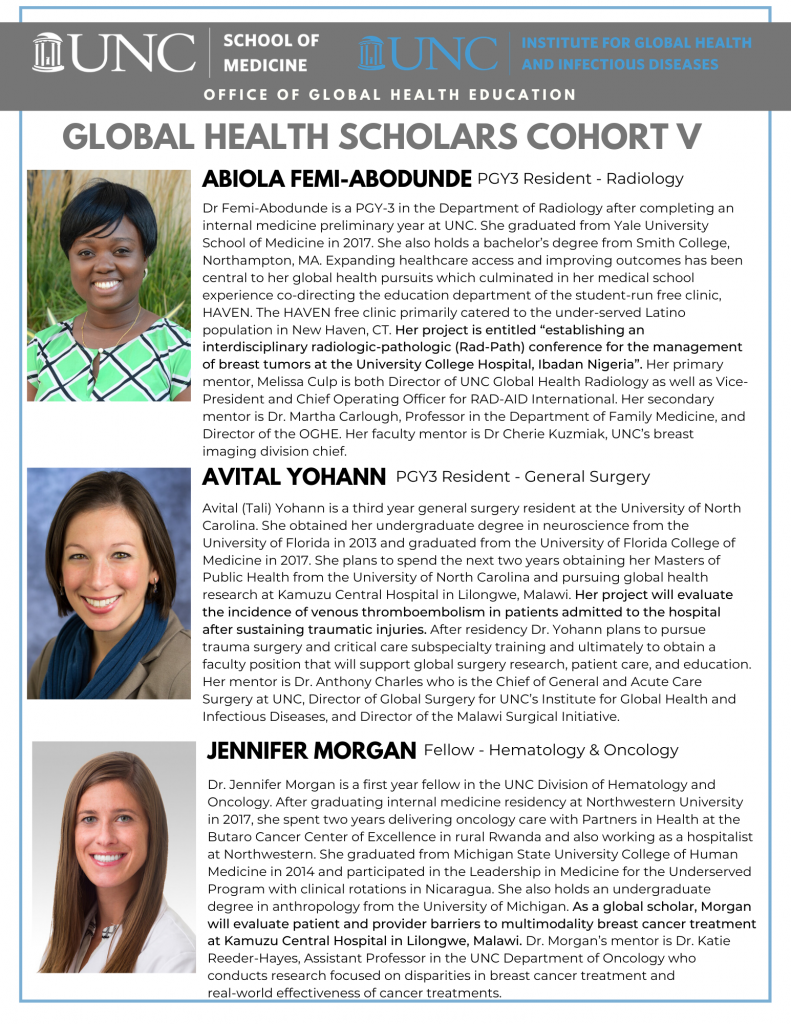 Global Health Scholars Cohort V