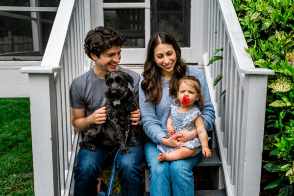 Photo of Josh Dowd and family on steps