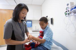 Dr. Wu's patient exam
