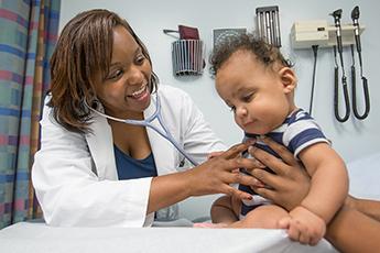 Nephrology exam with patient