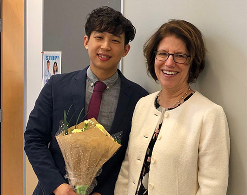 Dr. Alex Chung and Dr. Leslie Parise