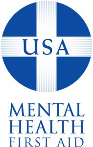 Logo for Mental Health First Aid Training. Links to http://ssw.unc.edu/sswevents/mhfa-training