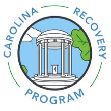 Logo for Carolina Recovery Program. Links tohttps://studentwellness.unc.edu/programs/alcohol-drug-programs/carolina-recovery-program