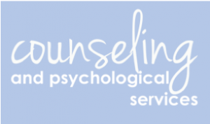 UNC Counseling and Psychological Services logo. Links to https://caps.unc.edu/