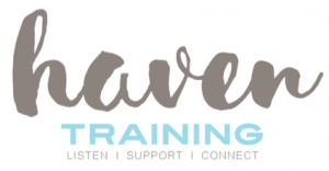 Logo for HAVEN (Helping Advocates for Violence Ending Now) Training. Links to https://womenscenter.unc.edu/programs/haven-training/