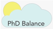 Logo for the UNC PhD Balance Organization. Links to https://phdbalance.com/