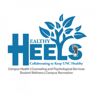 UNC Healthy Heels logo. Links to https://healthyheels.org/about/recent-links/
