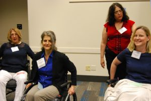 Attendees take part in Deanna Baldassari's (MS, OTR/L) interactive session.