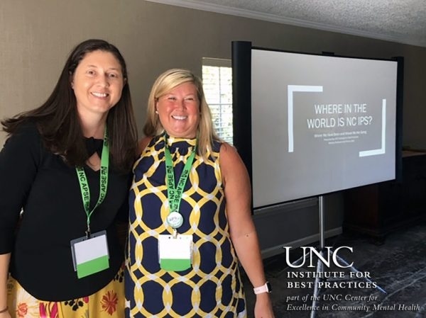 Penny and Melissa at NC APSE's Fall Conference