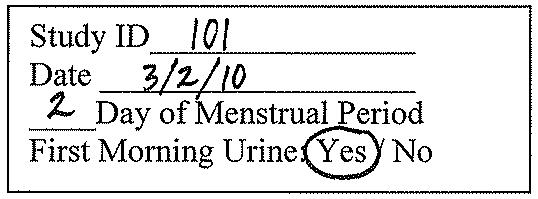 Urine Cup Label