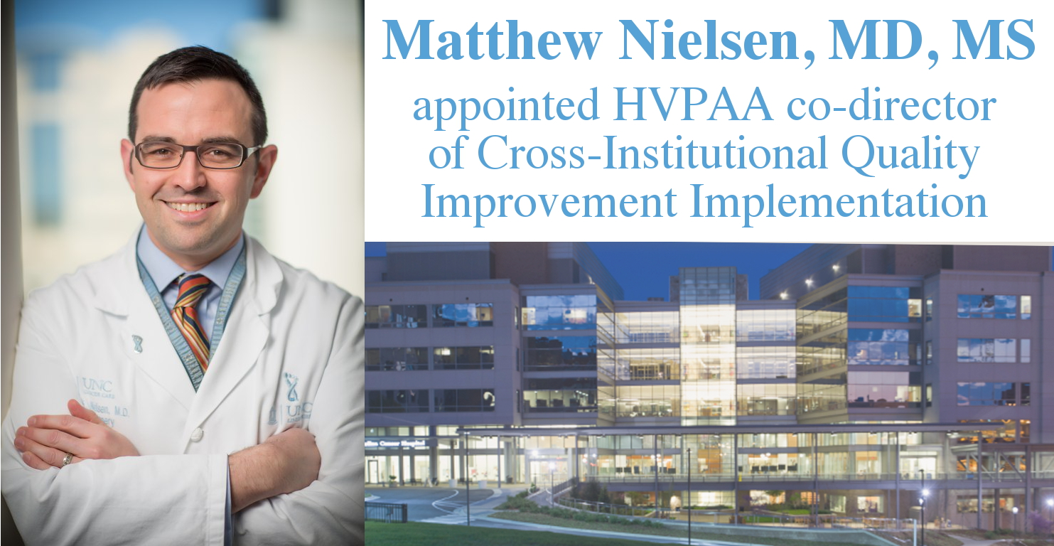 Matthew Nielsen, MD, MS appointed co-director of Cross-Institutional Quality Improvement Implementation