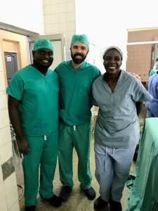 Dr. McCormick with medical house staff in Lilongwe, Malawi