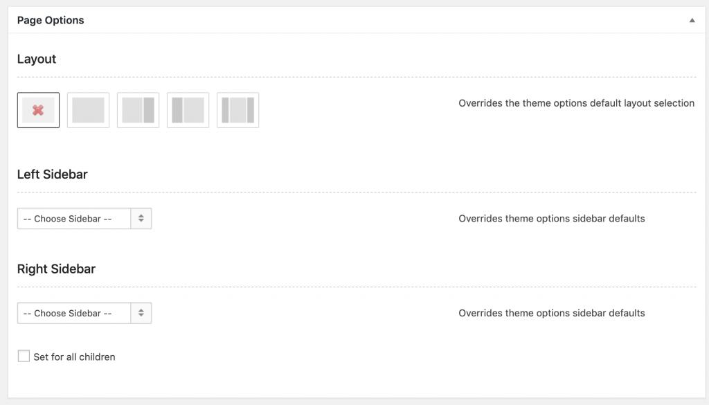 Page Options Screenshot